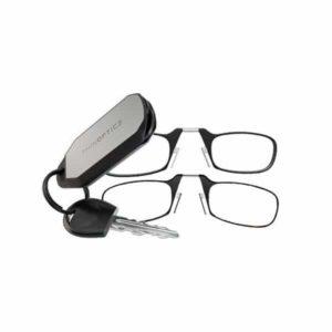 Thinoptics משקפי קריאה מתקפלים עם נרתיק מחזיק מפתחות
