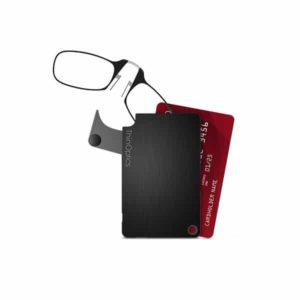 Thinoptics flash card- משקפי קריאה מתקפלים לנרתיק דקיק קאפשר לשים בכיס או בארנק